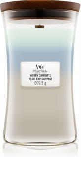 Woodwick Trilogy Woven Comforts bougie parfumée avec mèche en bois