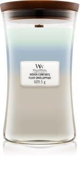 Woodwick Trilogy Woven Comforts illatos gyertya  fa kanóccal