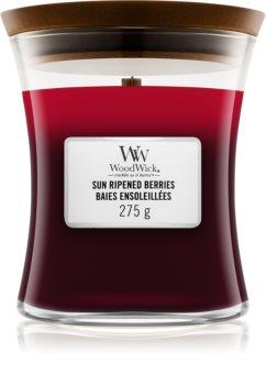 Woodwick Trilogy Sun Ripened Berries mirisna svijeća s drvenim fitiljem
