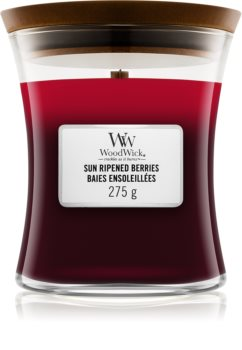 Woodwick Trilogy Sun Ripened Berries scented candle Wooden Wick