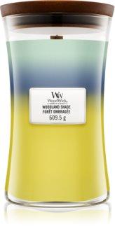 Woodwick Trilogy Woodland Shade vela perfumada com pavio de madeira
