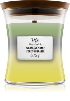 Woodwick Trilogy Woodland Shade ароматна свещ  с дървен фитил