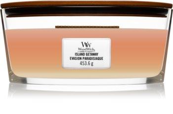 Woodwick Trilogy Island Getaway bougie parfumée avec mèche en bois (hearthwick)
