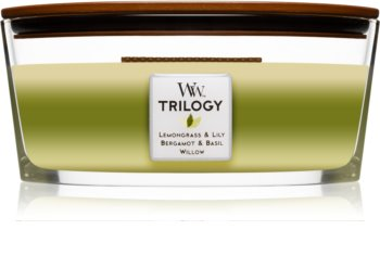 Woodwick Trilogy Garden Oasis scented candle wooden wick (hearthwick)