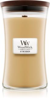 Woodwick At The Beach ароматическая свеча с деревянным фителем