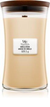 Woodwick Vanilla Bean mirisna svijeća s drvenim fitiljem
