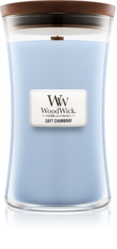 Woodwick Soft Chambray scented candle Wooden Wick