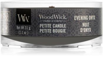 Woodwick Evening Onyx вотивна свещ с дървен фитил