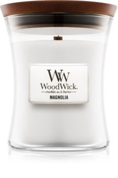 Woodwick Magnolia Tuoksukynttilä Puinen Sydän