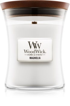 Woodwick Magnolia αρωματικό κερί με ξύλινο φιτίλι