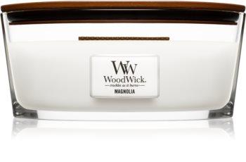 Woodwick Magnolia świeczka zapachowa  z drewnianym knotem (hearthwick)