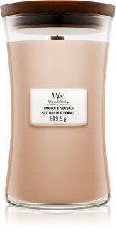 Woodwick Vanilla & Sea Salt duftlys Trævæge