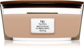 Woodwick Vanilla & Sea Salt bougie parfumée avec mèche en bois (hearthwick)