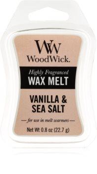Woodwick Vanilla & Sea Salt vosek za aroma lučko