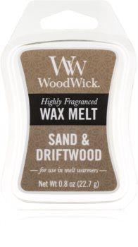 Woodwick Sand & Driftwood duftwachs für aromalampe