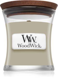 Woodwick Fireplace Fireside vonná svíčka s dřevěným knotem