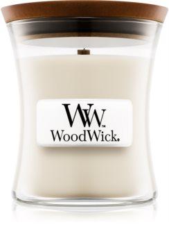 Woodwick Island Coconut vonná svíčka s dřevěným knotem