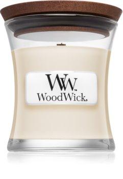 Woodwick White Tea & Jasmine Duftkerze mit Holzdocht