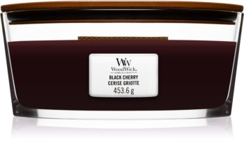 Woodwick Black Cherry scented candle wooden wick (hearthwick)