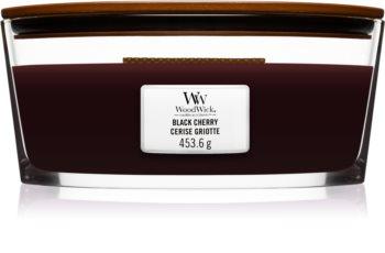 Woodwick Black Cherry świeczka zapachowa  z drewnianym knotem (hearthwick)