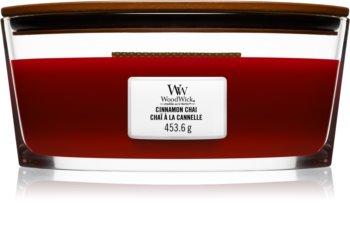 Woodwick Cinnamon Chai lumânare parfumată  cu fitil din lemn (hearthwick)