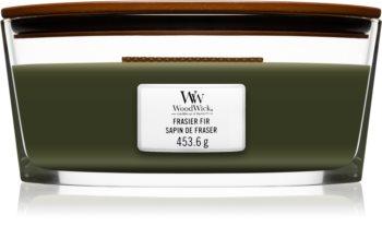 Woodwick Frasier Fir lumânare parfumată  cu fitil din lemn (hearthwick)