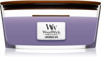 Woodwick Lavender Spa ароматна свещ  с дървен фитил (hearthwick)
