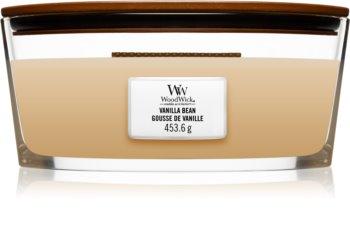 Woodwick Vanilla Bean lumânare parfumată  cu fitil din lemn (hearthwick)