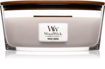 Woodwick Wood Smoke duftlys trævæge (hjertevæge)