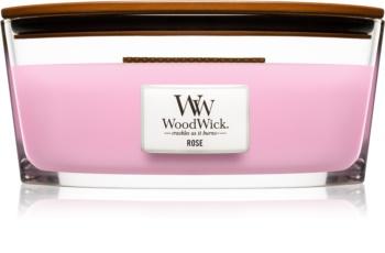 Woodwick Rose mirisna svijeća s drvenim fitiljem (hearthwick)