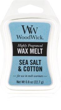 Woodwick Sea Salt & Cotton duftwachs für aromalampe