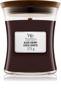 Woodwick Black Cherry duftlys Trævæge