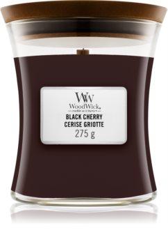 Woodwick Black Cherry ароматна свещ  с дървен фитил