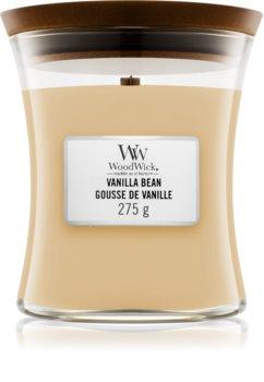 Woodwick Vanilla Bean ароматическая свеча с деревянным фителем