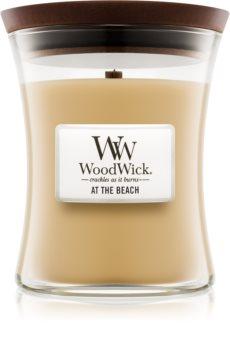 Woodwick At The Beach αρωματικό κερί με ξύλινο φιτίλι