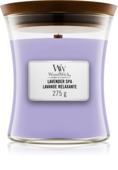 Woodwick Lavender Spa vonná svíčka s dřevěným knotem