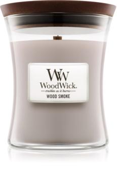 Woodwick Wood Smoke mirisna svijeća s drvenim fitiljem