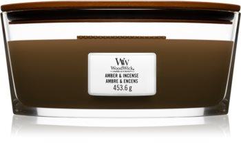 Woodwick Amber & Incense aроматична свічка з дерев'яним гнітом (hearthwick)