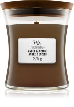 Woodwick Amber & Incense bougie parfumée avec mèche en bois