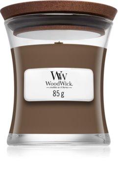 Woodwick Amber & Incense illatos gyertya  fa kanóccal