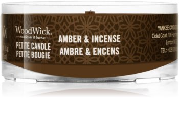 Woodwick Amber & Incense votive candle Wooden Wick