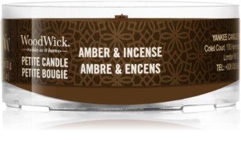 Woodwick Amber & Incense Votivkerze  mit Holzdocht