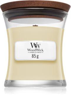 Woodwick White Teak Tuoksukynttilä Puinen Sydän