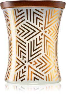 Woodwick White Teak scented candle