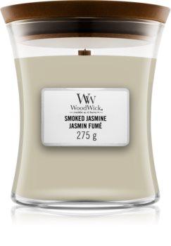 Woodwick Smoked Jasmine mirisna svijeća s drvenim fitiljem