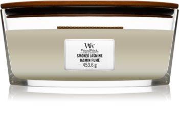 Woodwick Smoked Jasmine lumânare parfumată  cu fitil din lemn (hearthwick)