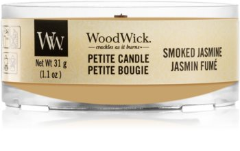 Woodwick Smoked Jasmine Votivkerze  mit Holzdocht