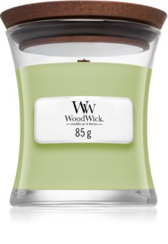 Woodwick Fig Leaf & Tuberose scented candle Wooden Wick