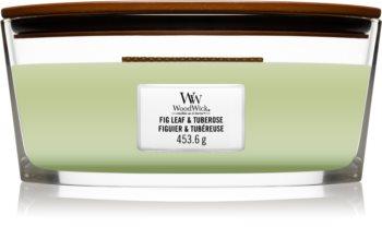 Woodwick Fig Leaf & Tuberose vela perfumada com pavio de madeira (hearthwick)
