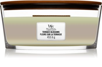 Woodwick Trilogy Terrace Blossoms scented candle wooden wick (hearthwick)